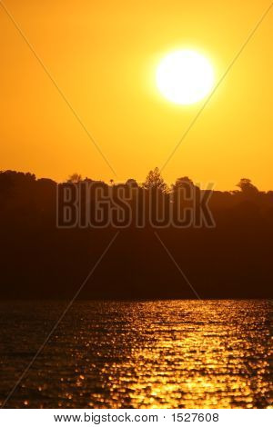 Bright Yellow Sunset