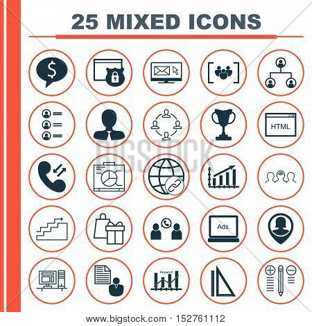 Set Of 25 Universal Editable Icons For Education, Project Management And Seo Topics. Includes Icons