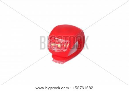 A Bicycle rear red light reflector isolated