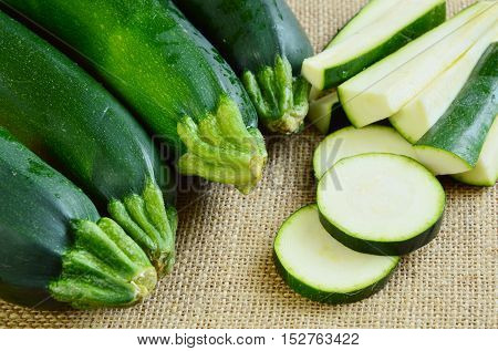 Zucchini squash (courgette) is one of the most popular summer vegetables in Americas and Europe.
