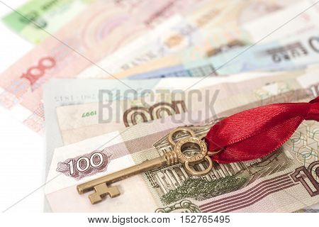 Key to success On International Money isolated