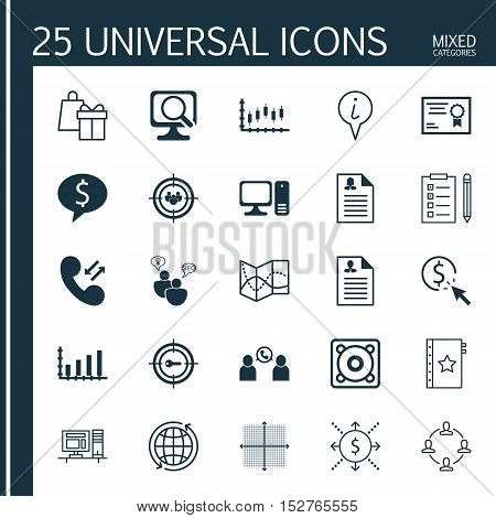 Set Of 25 Universal Editable Icons For Statistics, Hr And Management Topics. Includes Icons Such As