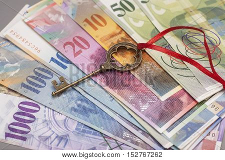 Key To Success With Red Bow on Swiss Franc notes