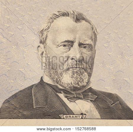 Portrait of U.S. president Ulysses S. Grant