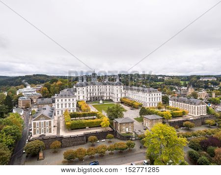 Aerial view of Gladbach castle in Bensberg, Germany