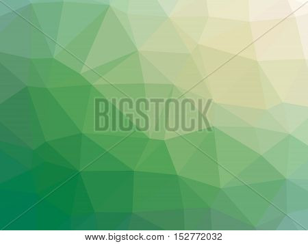 Green Yellow Gradient Abstract Polygon Shaped Background