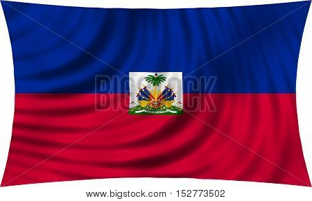 Haitian national official flag. Patriotic symbol banner element background. Correct colors. Flag of Haiti waving isolated on white 3d illustration