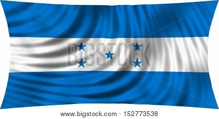 Honduran national official flag. Republic of Honduras patriotic symbol banner element background. Correct colors. Flag of Honduras waving isolated on white 3d illustration