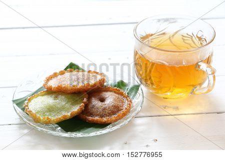 Kuih Pinjaram, traditional sweet cake of ethnic in Sabah Borneo and Brunei