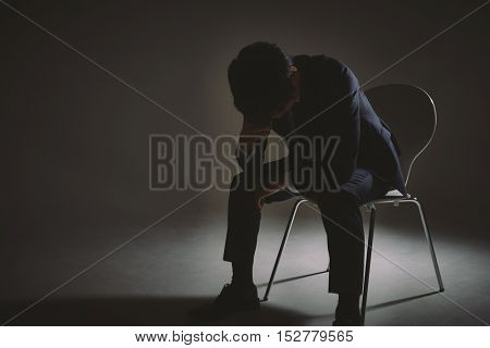 Frustrated young businessman