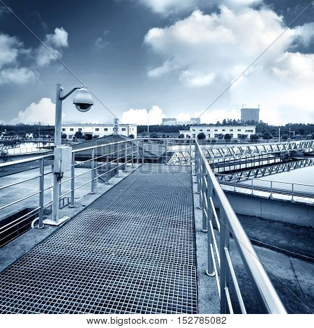 Modern urban sewage treatment plants in the equipment and facilities.