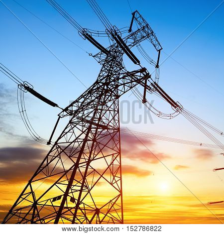 Transmission equipment high - voltage transmission tower steel structure. poster