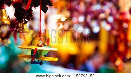 Santa Claus Pilots A Plane For Christmas