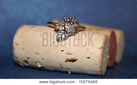 Grape Ring on Corks