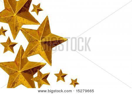 Golden Christmas stars.