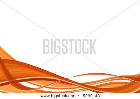 Orange abstract curve background.