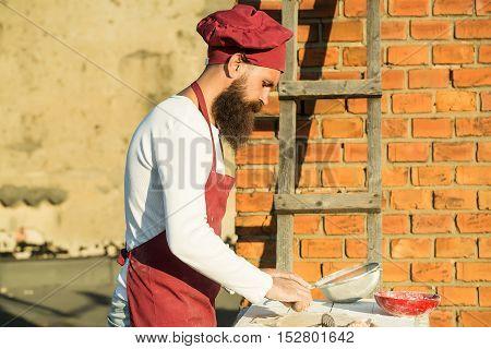 Chef Man Rolling Dough