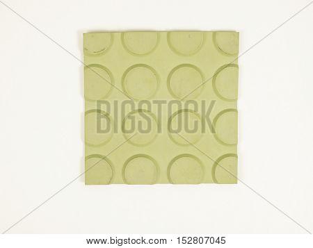 Vintage Looking Green Rubber Linoleum Sample