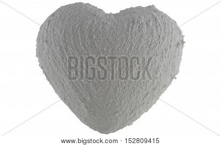 A heart of stone, on white background.