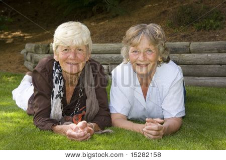 Two ladies in their sixties, best friends for fifty five years.