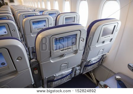 Airbus A380 Airplane Inside Lcd Monitors
