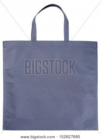 Sample gray non-woven bag isolated on white