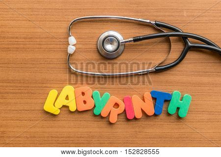 Labyrinth Colorful Word