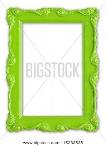 Pretty green picture frame.