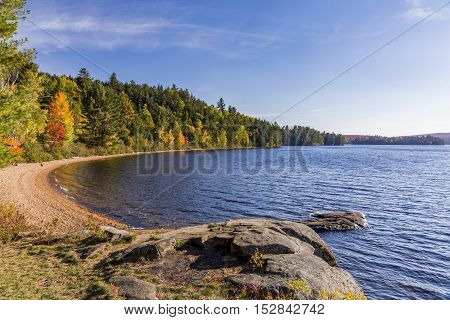 Shoreline Of A Lake In Autumn - Ontario, Canada