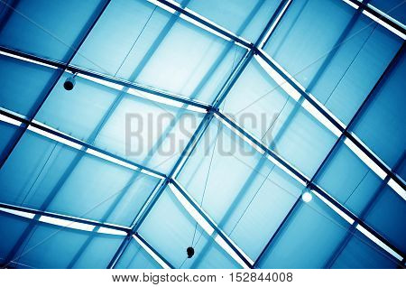 Modern building Luxury office building Interior roof.