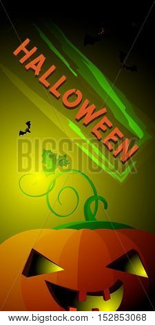 Vertical flyer Halloween. On a gradient background for your design