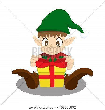 christmas elf tie bow, elf tie gift, prepare present
