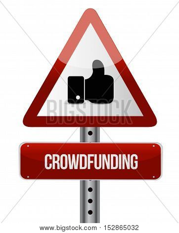 Crowdfunding Like Road Sign Concept
