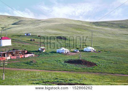 A view from the Trans-Siberian train at Ulaanbaatar , Mongolia
