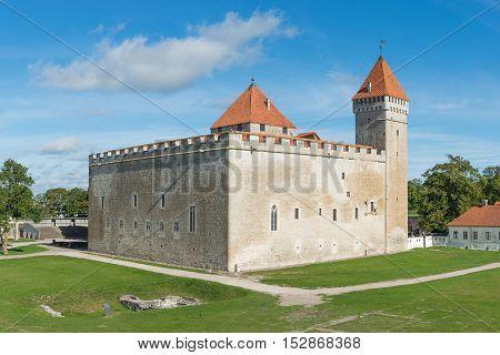 Medieval castle in Kuressaare, island of Saaremaa, Estonia.