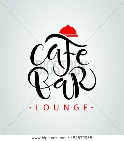 Cafe, Bar, Restaurant, Lounge Logotype Vector Illustration