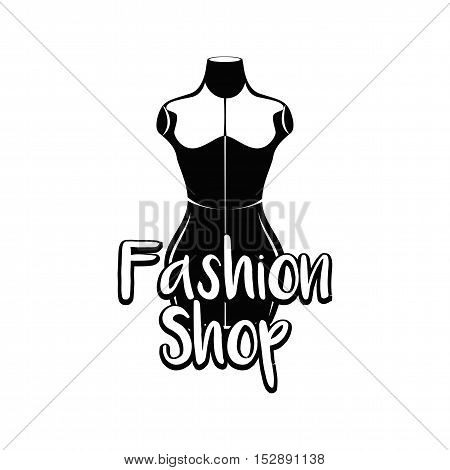 Fashion stand, female torso mannequin. tailor multicolor mannequin. body mannequin. sewing tailor mannequin. Vector Illustration