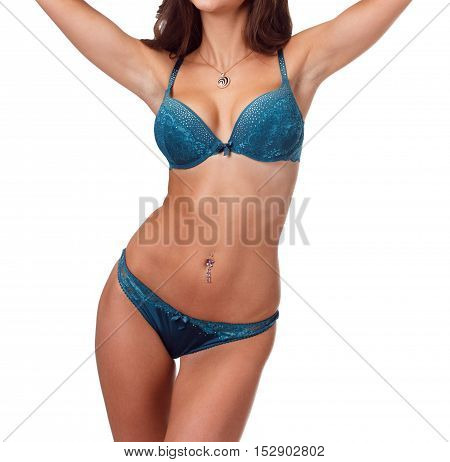 Sexy Seductive Woman In Color Lingerie