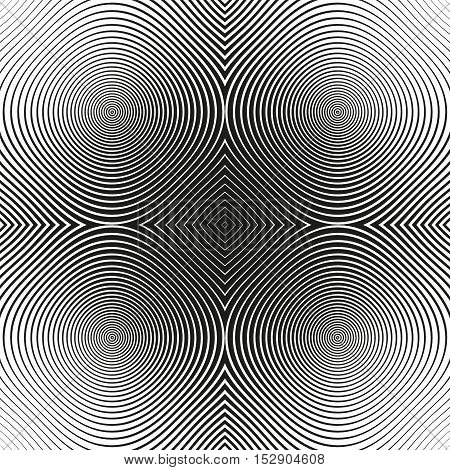 Black And White Abstract Modern Concentric Circles Texture, Background Pattern
