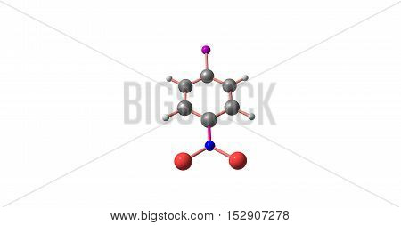 4-Iodo-1-nitrobenzene is an important raw material and intermediate used in organic synthesis pharmaceuticals agrochemicals and dyestuff fields. 3d illustration