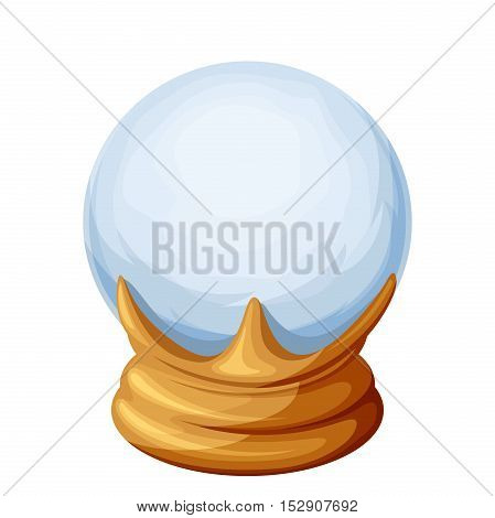 Vector magic crystal ball isolated on a white background.