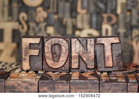 Wooden Font Concept