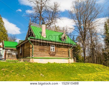 ABRAMTSEVO, RUSSIA - MAY 1, 2016: Memorial manor Abramtsevo artistic and literary museum-reserve. Summer cottage