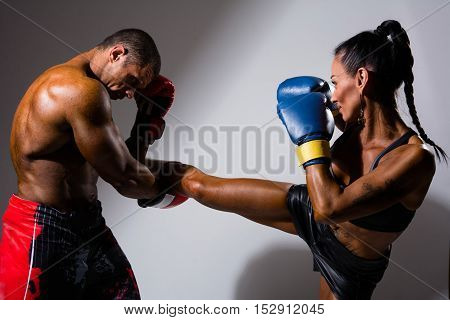 Female And Male Boxers
