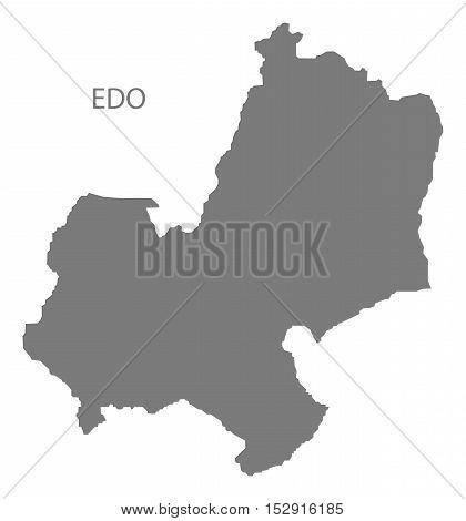 Edo Nigeria Map grey illustration high res