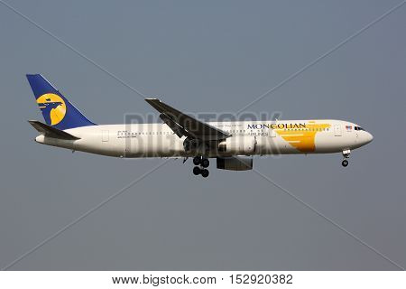 Miat Mongolian Airlines Boeing 767-300 Airplane