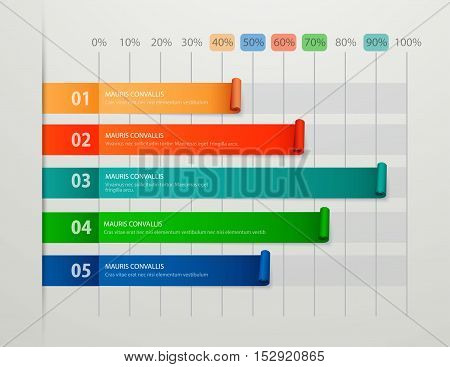 Modern business steps to success chart and graph options banner. Vector illustration modern design template. Chart, graph vector. Chart, graph eps. Chart, graph picture.