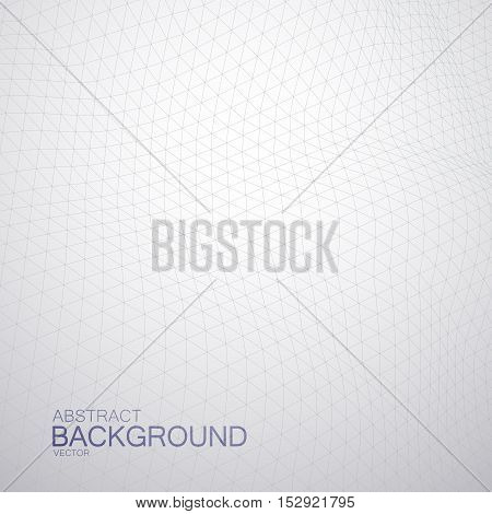 3D cyberspace grid. Vector illustration of geometric distorted cyberspace grid. Technology background