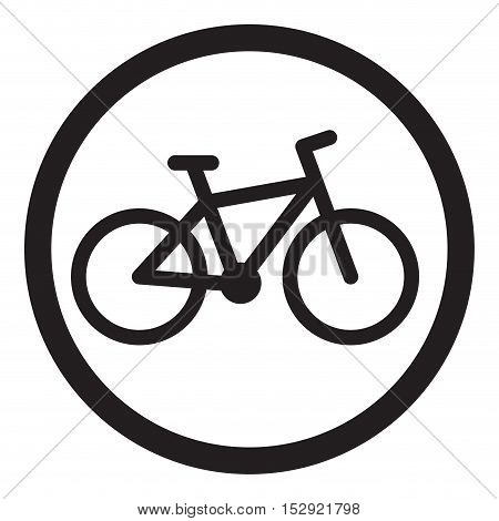 Bike icon black. Cycle icon and bicycle icon mountain bike logo vector illustration