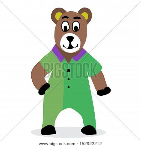 Bear cartoon vector. Teddy bear and brown bear animal bear vector illustration